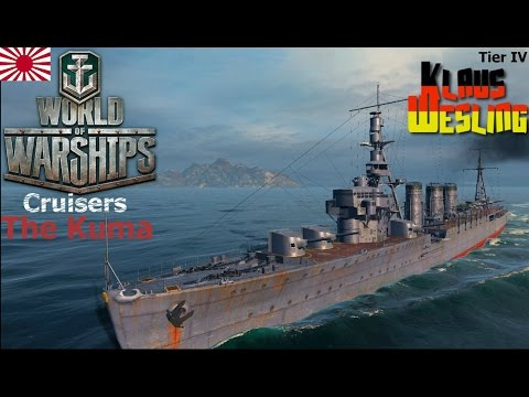 World of Warships- Tier 4 Light Cruiser Kuma Review