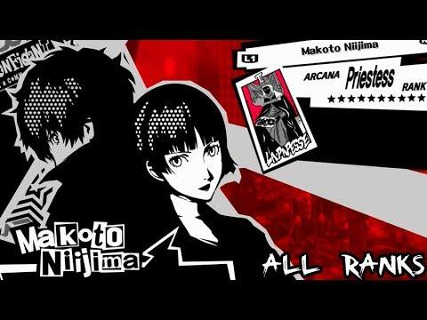 Persona 5 - Priestess Confidant: Makoto Niijima (All Ranks / Romantic Route)