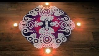 Free hand Rangoli Designs with colours -Rangoli designs by Shital Daga