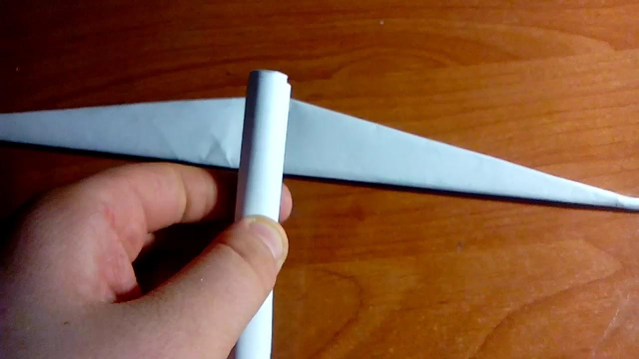 Как сделать кирку из бумаги