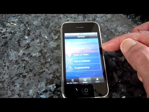 Tips for Travellers Podcast App: video demo of how it works