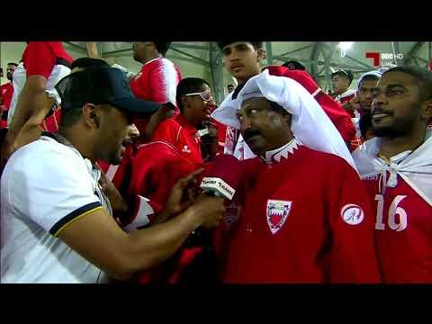 الجماهير البحرينية في ملعب عبدالله بن خليفة بنادي الدحيل مسرح نهائي خليجي24