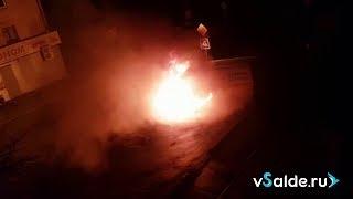 В Верхней Салде сгорел автомобиль грузового такси, 07.05.2018