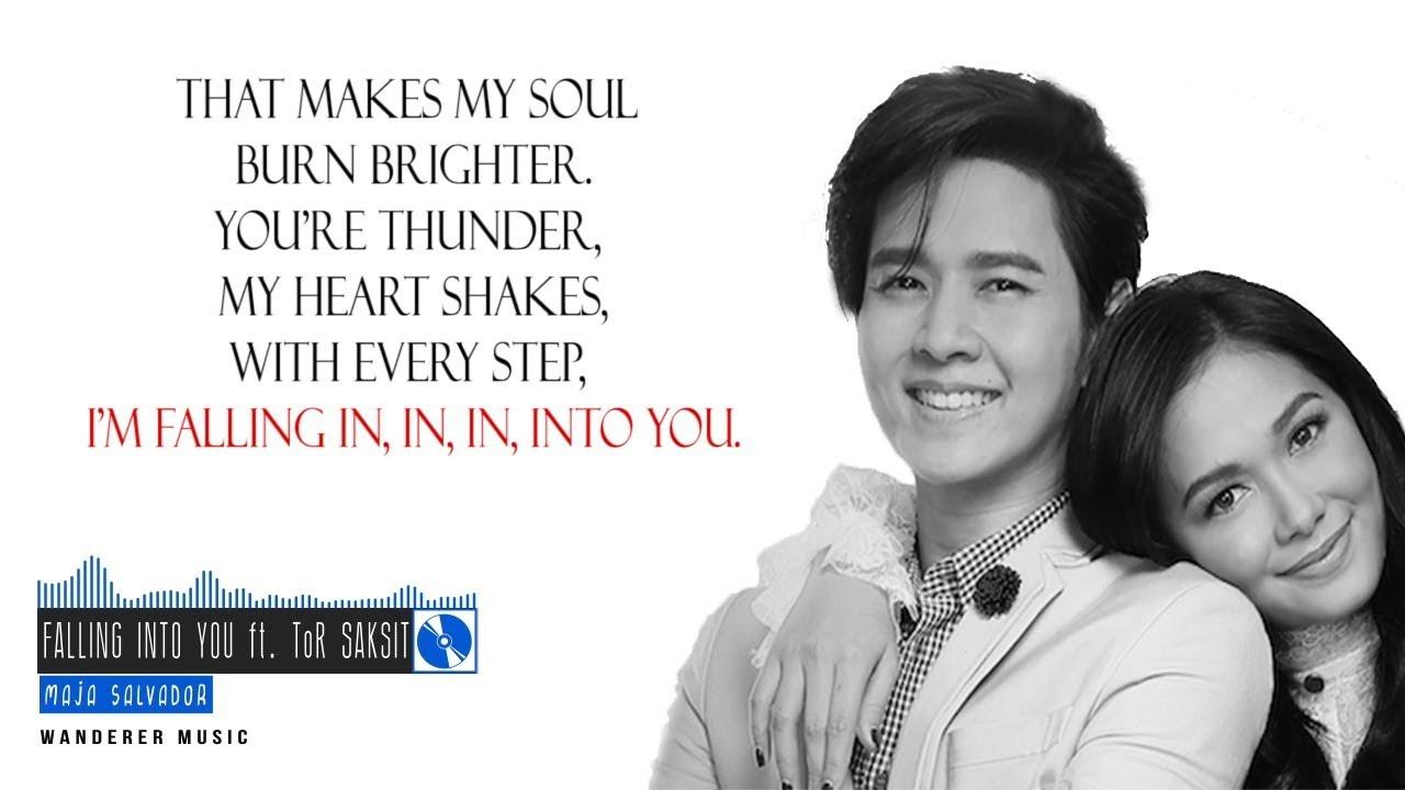 Lyrics of falling into you