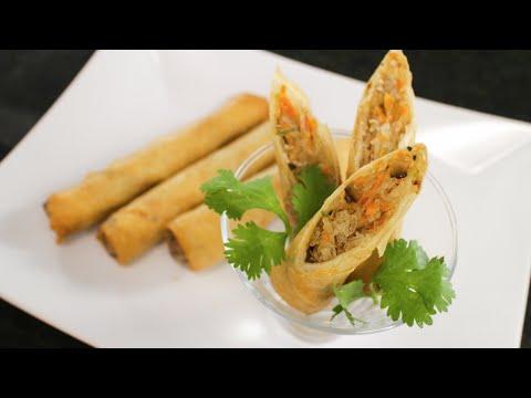 Crispy Spring Rolls Recipe เปาะเปี๊ยะทอด - Hot Thai Kitchen