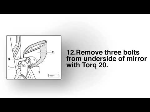 VW (Volkswagen) New Beetle Broken Side/Wing Mirror Repair Instructions for Inner Mount