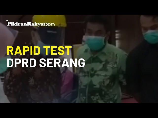 Dinas Kesehatan Kota Serang Gelar Rapid Test untuk Pegawai dan Anggota Dewan di Gedung DPRD