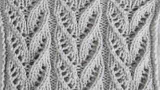 Ажурные японские дорожки Вязание спицами Видеоурок 105