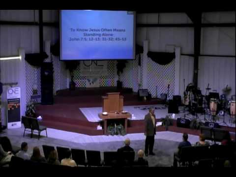 February 28, 2016   SCBC Morning Sermon   To Know Jesus Often Means Standing Alone