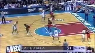Grant Hill 24pts-8ast vs. Hawks Game3 1997 Playoffs - Big Block on C.Laettner