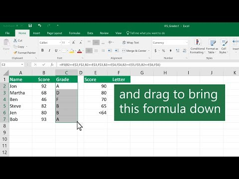How to use the IFS function in Excel thumbnail
