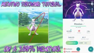 How To Catch Mewtwo In Pokemon Go | Excellent Throws | On a 100% Mewtwo!