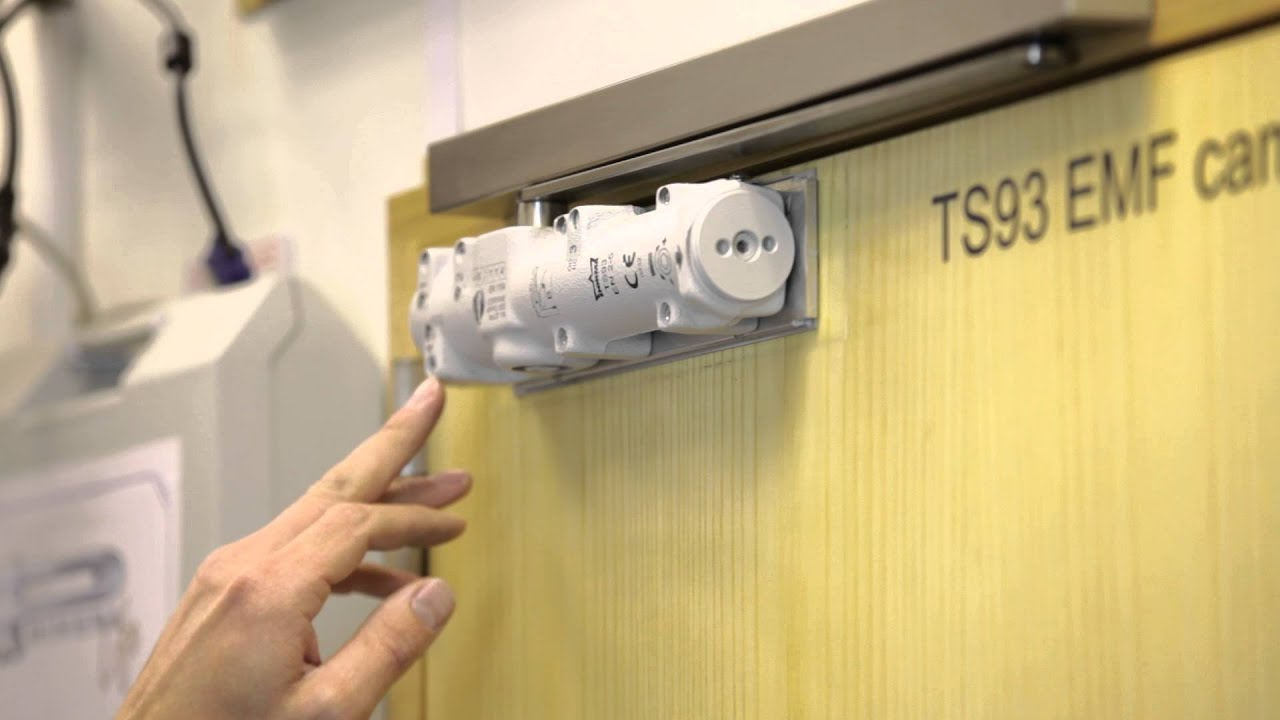 Dorma Ts93 Emf Hold Open Cam Action Door Closer Youtube