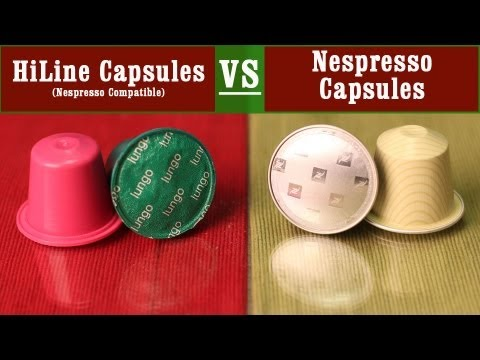 nespresso capsules vs compatible capsules by hiline coffee company comparison review youtube. Black Bedroom Furniture Sets. Home Design Ideas