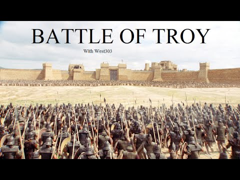 Comparison of book trojan war to movie troy