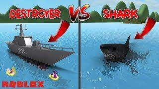 ZERSTÖRER GEGEN HAI! / Roblox: Sharkbite 🦈