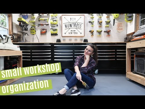 Small Workshop Organization Tips & Shed-Shop Tour