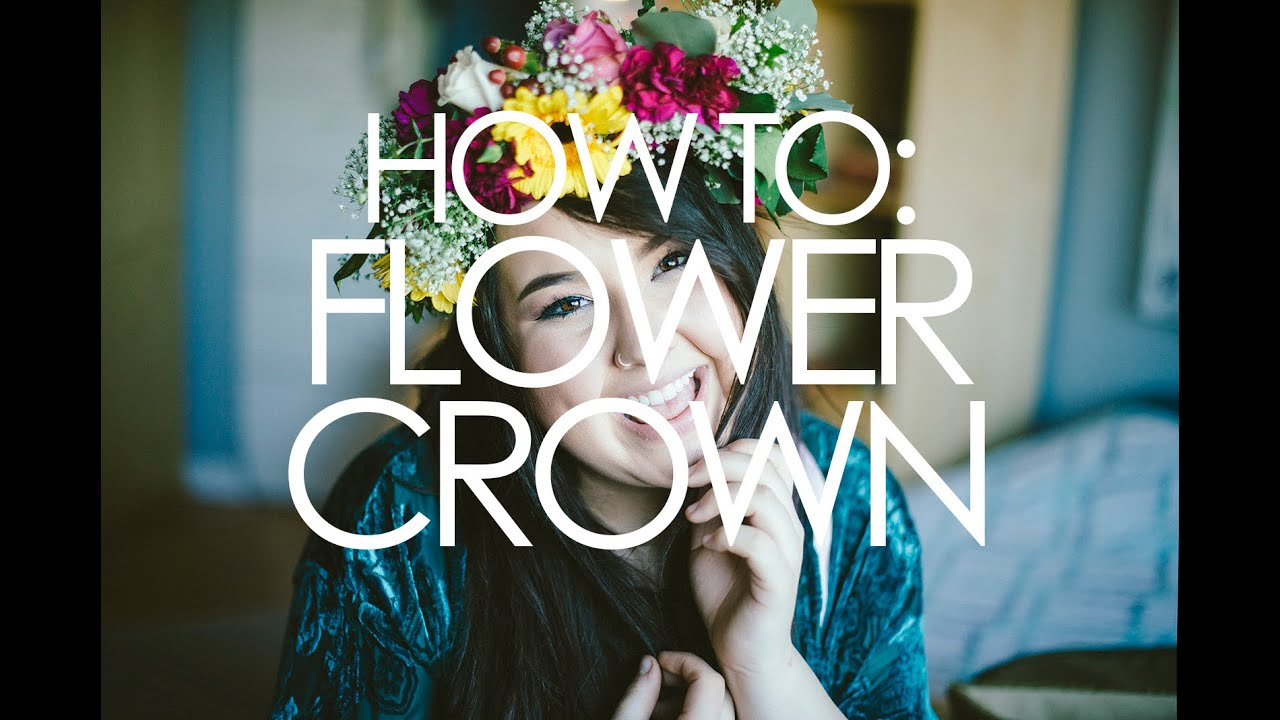 How to diy flower crown using real flowers youtube how to diy flower crown using real flowers izmirmasajfo