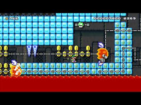 5-5 Lemmy's FreezeFlame Fortress By LaunchStar 🍄 Super Mario Maker 2 😶 No Commentary ⚿abx