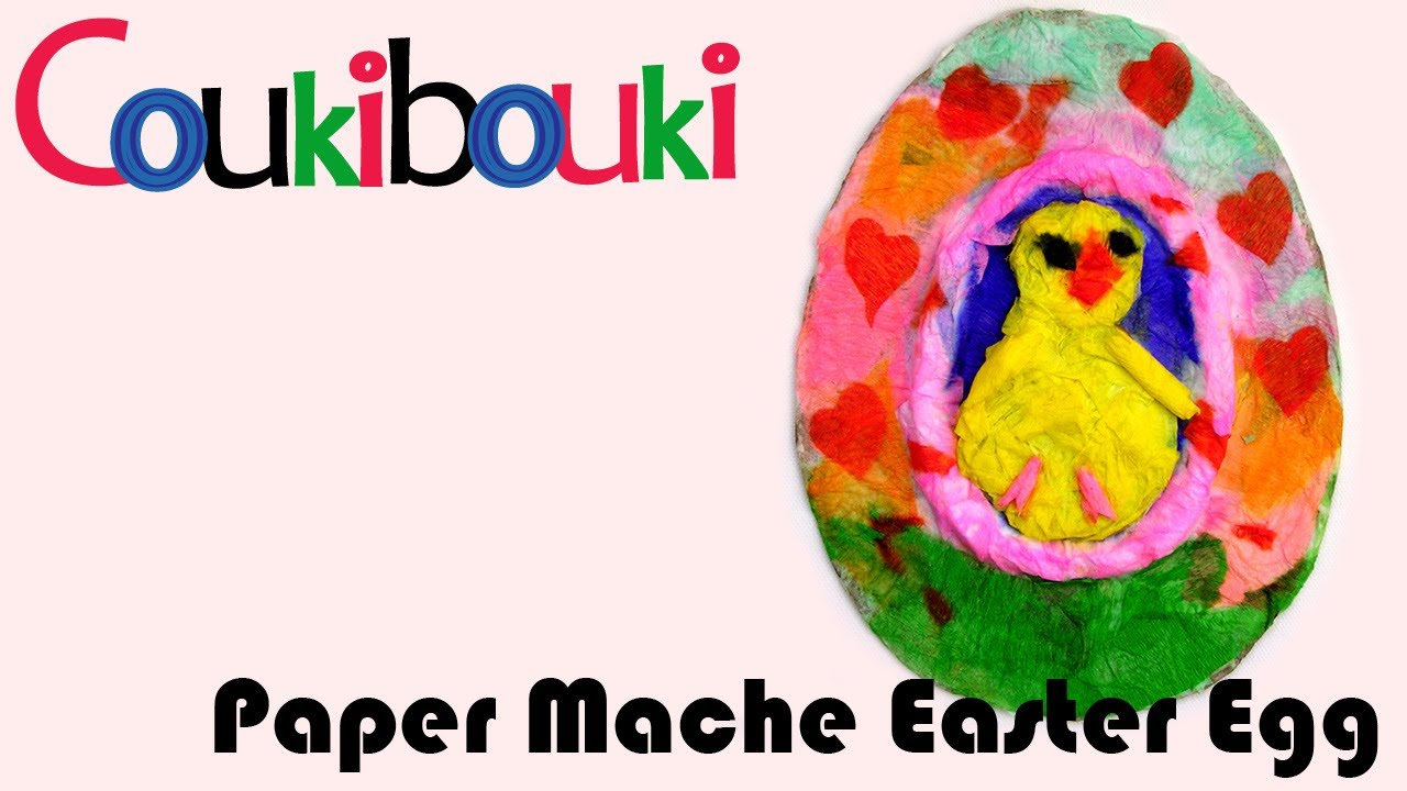 Paper Mache Craft Ideas For Kids Part - 29: Paper Mache Easter Egg. Artistic Activity For Children COUKIBOUKI - Gallery  - Craft Ideas