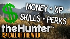 theHunter: Call of the Wild - HOW TO GET MONEY | XP | PERKS | SKILLS USING CHEAT ENGINE