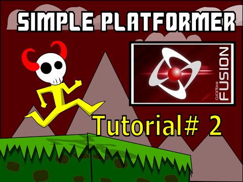 Simple Platform Game Tutorial #2 for Clickteam Fusion. Animations, scrolling, and collectables.