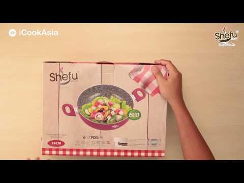UNBOXING: SHEFU 28cm Ceramic Marble Wok   Kuali Seramik   iCookAsia Shop