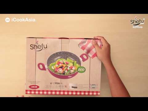 UNBOXING: SHEFU 28cm Ceramic Marble Wok | Kuali Seramik | iCookAsia Shop
