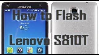 Flash Lenovo S810T new stock firmware (SD Method )