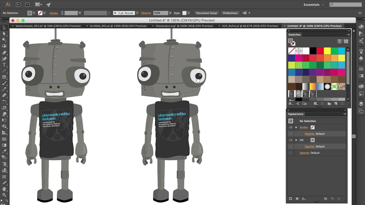 Texture fill patterns in Adobe Illustrator - YouTube