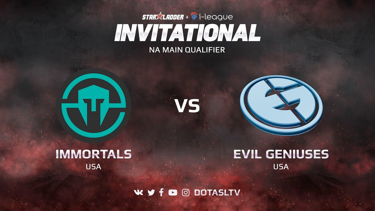 Immortals против Evil Geniuses, Первая карта, NA квалификация SL i-League Invitational S3