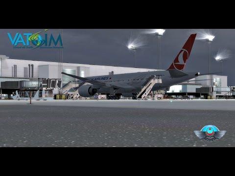 Turkish Airlines | Flight Deck {VATSIM} | København (EKCH) - Istanbul (LTBA) B77L