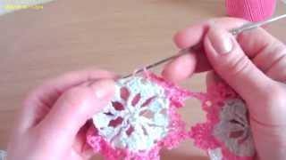 Как соединять мотивы (вязание крючком). How to connect the motifs (crochet).