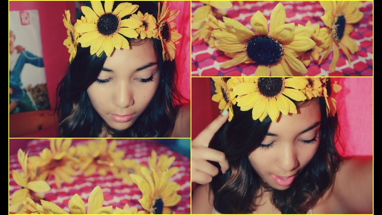How To Make A Flower Crown Diy Sunflower Crown Youtube
