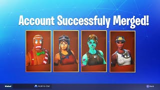 How to MERGE ACCΟUNTS in Fortnite! New Account Merging Feature!! #CADRC