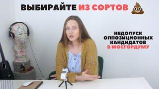 Фото За что забраковали кандидатов в Мосгордуму   У россиян нет права выбора