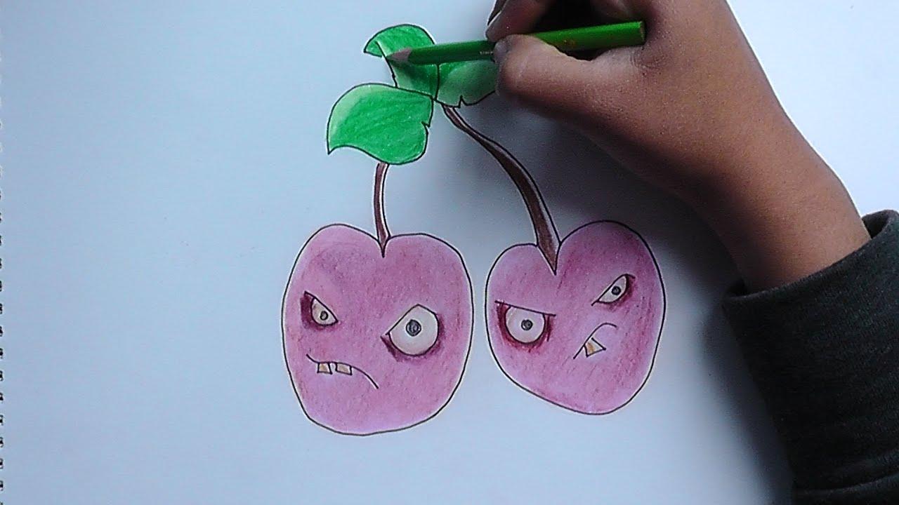 Como Dibujar A Un Pomelo De Pvz: Como Dibujar Planta Carnivora Paso A Paso Plants Vs