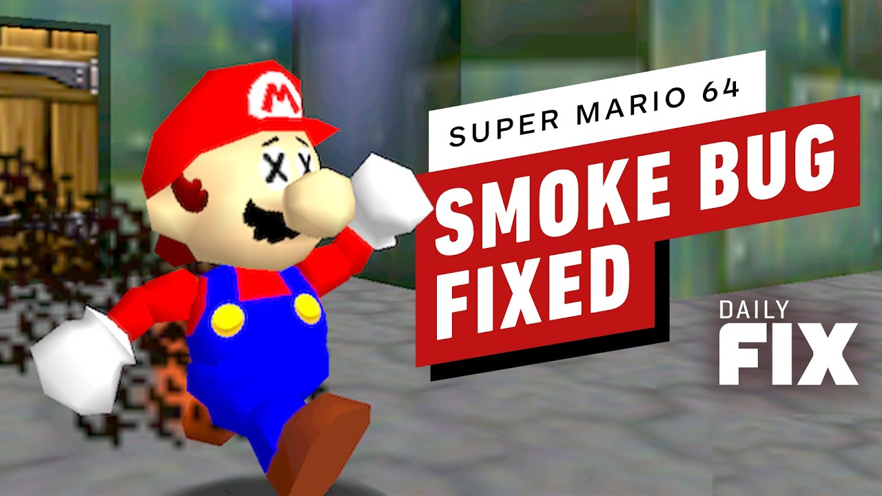 Weird Smoke Bug Fixed In Super Mario 64 - IGN Daily Fix - IGN