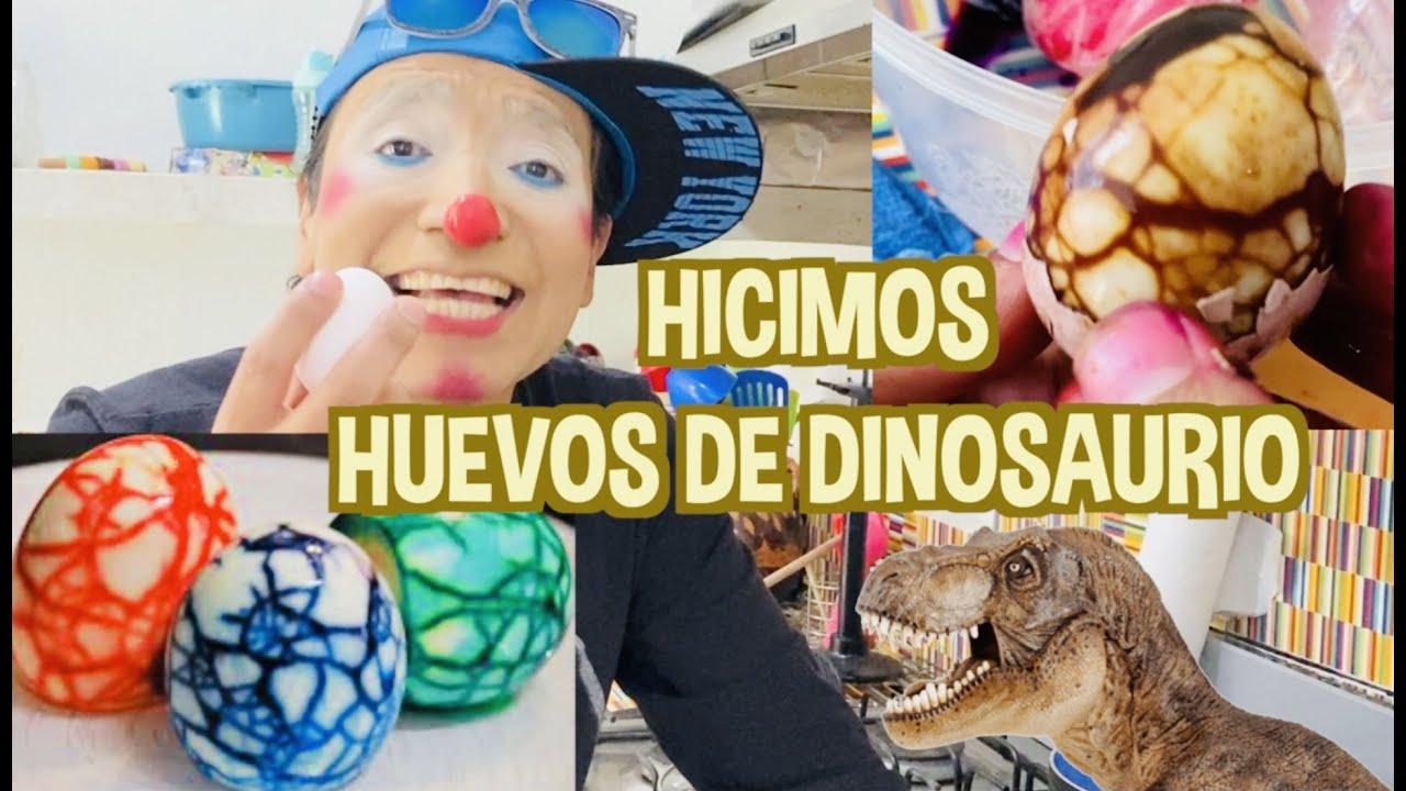 HICIMOS HUEVOS DE DINOSAURIO / APRENDE A HACERLOS / LOS DESTRAMPADOS
