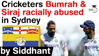 <b>Australia vs India</b> Cricket - <b>Indian</b> Cricketers Bumrah & Siraj racially ...