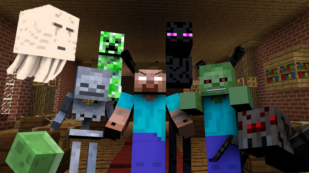 Monster School Hunting Minecraft Youtube