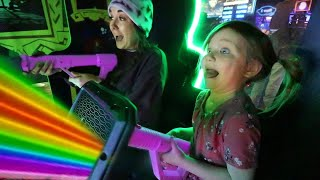 SURPRiSE VACATiON with ADLEY!! First time flying to this mystery place! a magic arcade and new toys!