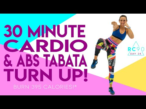 30-minute-cardio-and-abs-tabata-turn-up-workout-🔥burn-395-calories!*-🔥sydney-cummings