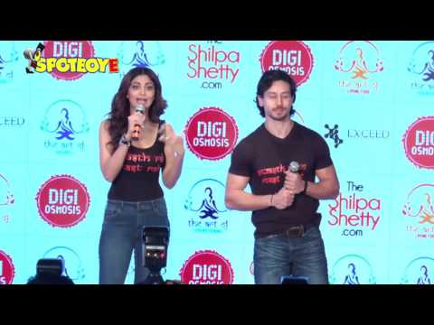 UNCUT- Shilpa Shetty  launches her own wellness series by Tiger Shroff | SpotboyE