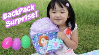 Opening Princess Sofia the First Surprise Backpack