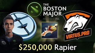 250 000 rapier on boston major eg vs vp