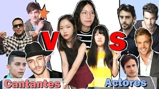 Coreanas reaccionan a los Famosos Latinos | Quién es más guapo y sexy : Cantantes VS Actores