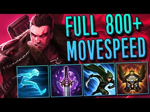 UNKITEABLE FULL MOVESPEED DARIUS RAMPAGE 800+ MS ! [ League of legends ]