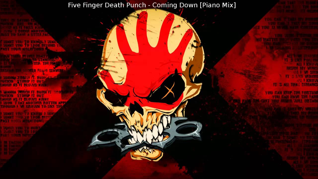 Five finger death punch coming down piano mix youtube
