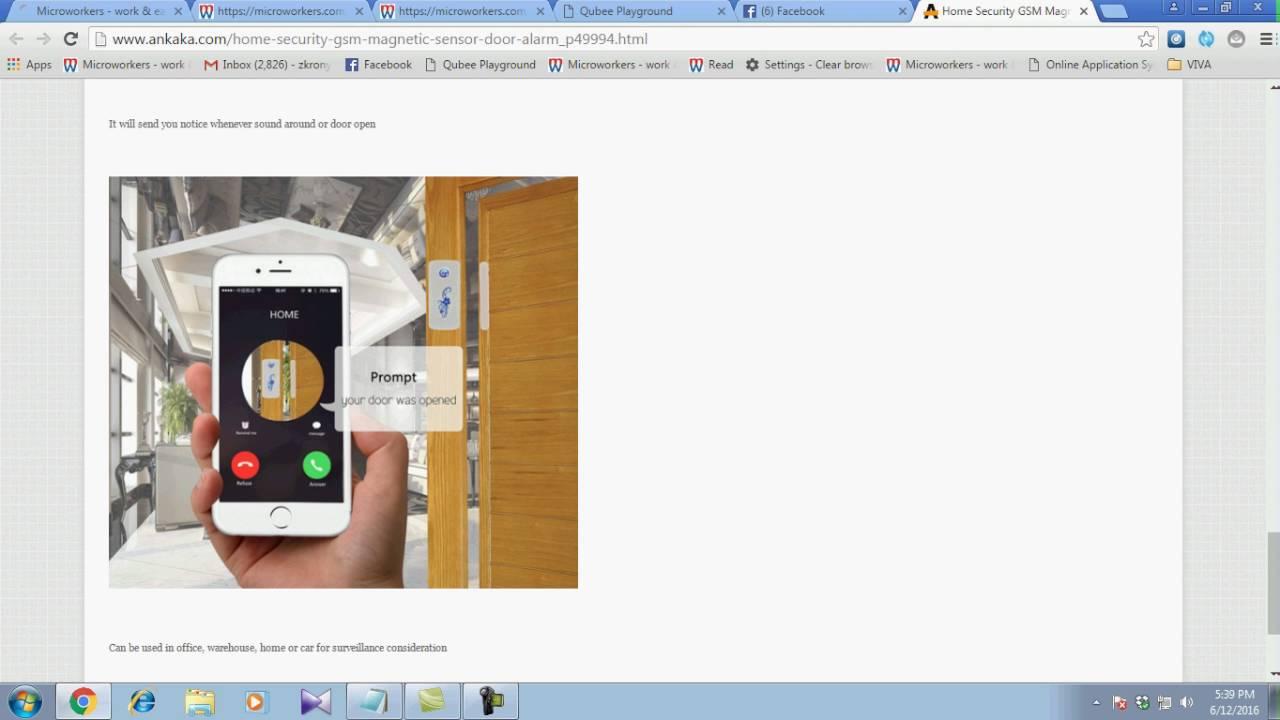 Home Security GSM Magnetic Sensor Door Alarm - YouTube